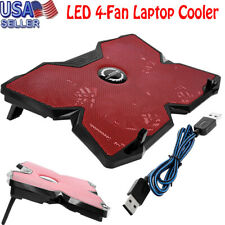 Game LED 4-Fan Advanced Laptop Notebook Cooler Cooling Pad Stand USB
