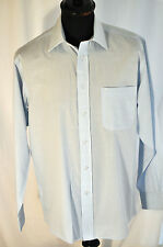 "Vintage pale blue check shirt large 42"" mod casual skinhead soul"