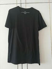MARKS & SPENCER MENS BLACK THERMAL T SHIRT SIZE MEDIUM SHORT SLEEVE TOP CREW