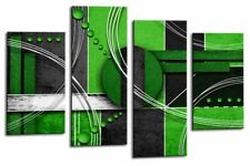 """ABSTRACT Art Picture Grey Green Love Large Rectangle Wall Canvas Print 44"""""""