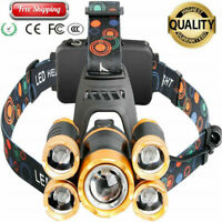 Fishing 5 Head Lamp Camping 5 Led Headlight Tube Torch LED for Riding Hunting