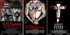 3 Serial Killer DVD's BRAND NEW HOLMES-FISH-PANZRAM documentary