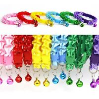 Pets Dogs Puppy Dots Printed Collars with Bell Cat Adjustable Buckle Necklace