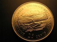 Canada 1992 British Columbia Province Commemorative 25 Cent Mint Coin.