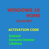 Activation code  On Windows 10 Home, Genuine License product key, Fast Delivery