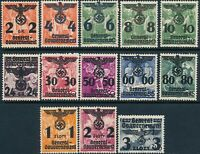 Stamp Germany Poland General Gov't Mi 017-29 Sc N32-44 1940 WWII War Set MH