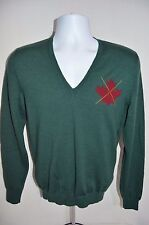 DSQUARED 2 Man's Wool Maple Leaf V-Neck Sweater NEW  Size Small   Retail $445