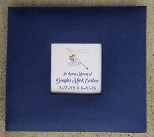 Custom Fishing Funeral Guest Book - Memorial Service Guestbook Sign Fisherman