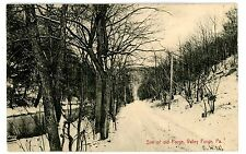 Valley Forge Pa -Site Of Old Forge In Winter- S.J. Parker Postcard