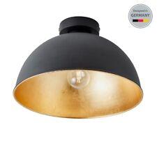 Deckenleuchte Schlafzimmer Wohnzimmer Design Decken-Lampen Loft schwarz-gold LED