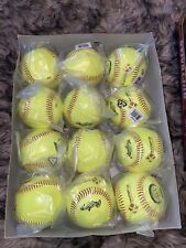 Rawlings Official Nfhs K-Master Fastpitch Softball Yellow 12 pack Brand New