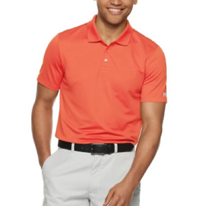 Fila Golf Shirt Mens Small to 2XL Orange Quick Dry Short Sleeve Performance Polo