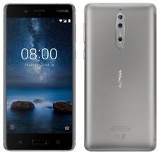 Téléphones mobiles argentés Nokia double SIM