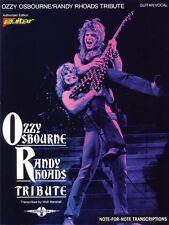 Ozzy Osbourne Randy Rhoads Tribute Sheet Music Play It Like It Is NEW 002507904