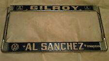 Gilroy Al Sanchez Volkswagen Jeep Eagle Dealership Metal License Plate Frame NOS