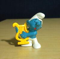 Smurfs Harp Smurf 20070 Vintage Music Figure Rare Schleich PVC Figurine Peyo Toy
