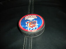 AHL NEW HAMILTON BULLDOGS HOCKEY  PUCK + FREE PUCK CASE