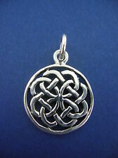 Sterling Silver Pendant Celtic Knot flower circle