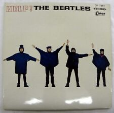 THE BEATLES - HELP! RED VINYL LP JAPANESE ODEON OP 7387 LP=5.0, LYRIC SHEET 4.5