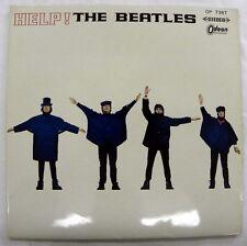 THE BEATLES - HELP! RED VINYL LP JAPANESE ODEON OP 7387 LP=5.0, LYRIC SHEET 4.5