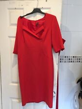 Lovely red fully lined shift dress by Kenneth Cole uk 14