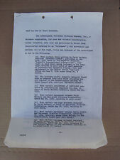 Walter Lang Director 20th Century Fox Signed Contract - Love Before Breakfast