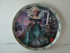 Enesco Barbie Collector Plate.Happy Holidays Barbie 1995! With C.O.A Beautiful!