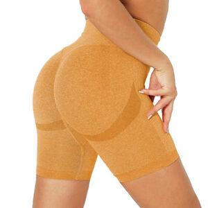 Women's Anti Cellulite Compression Push Up Booty Biker Shorts Fitness Yoga Pants