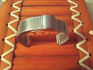 20mm Stainless steel Silver Mesh Watch Band,Bracelet