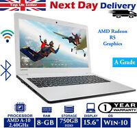"Lenovo IdeaPad 310-15ABR 15.6"" Laptop AMD A10 Quad-Core 8GB RAM 750GB HDD Win 10"