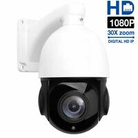 30X ZOOM Outdoor HD 1080P CCTV Security IR-CUT PTZ Dome IP Camera Night Vision