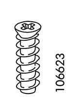 2x IKEA EURO COUNTERSUNK SCREW FX STEEL FLAT HEAD 20 mm  PART # 106623