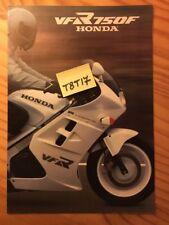 Honda VFR750F VFR750 F VFR 750  prospectus moto brochure poster dépliant