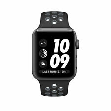 Apple Watch Nike+ 42mm Aluminum Case Black/Cool Gray Sport Band - (MNYY2LL/A)