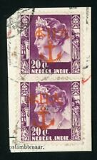 Japanese Occupation: GESER with Anchor overprint 53O Orange on pair 27