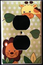 Jungle Safari Animals OUTLET plate Lion & Giraffe outlet plate cover CUTE