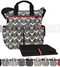 New SKIP HOP Duo Signature Nappy Diaper Baby Bag + Changing Mat - Select Colour