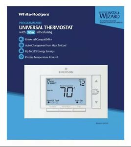 White Rodgers  Heating and Cooling  Touch Screen  Programmable Thermostat