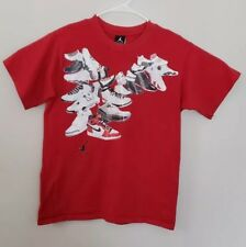 Jordan Shoe History Mens T Shirt size Small S tee short sleeve red