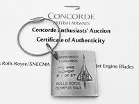 British Airways Concorde Olympus Engine Blade Key Tag