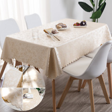 Oil-Proof Waterproof Rectangular PU Tablecloth Home Accessories Table Cover New
