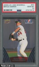 2008 Upper Deck USA Baseball #47 Bryce Harper Phillies RC Rookie 1st Card PSA 10