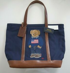 New Authentic POLO RALPH LAUREN POLO BEAR 50th ANNIVERSARY Tote Bag