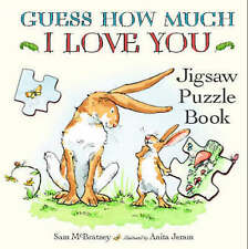 NEW GUESS HOW MUCH I LOVE YOU   JIGSAW PUZZLE book with seven 12 PIECE JIGSAWS