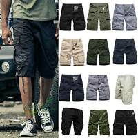 Men Army Military Combat Cargo Shorts Half Pants Casual Sports Tactical Trousers