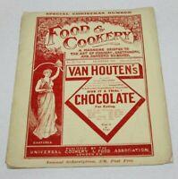 antiques  magazine 1898 food and  cookery  England London  menu restorant 2