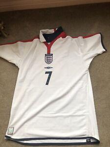 England 2003-05 Mens Home Football Shirt David Beckham #7 L