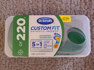 Dr. Scholls CF 220 Custom Fit Orthotic Inserts - Green NEW SEALED