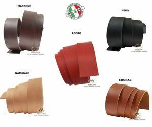 Striscia di cuoio vera pelle pellame pezzo per cintura cinturino spessore 3,8mm
