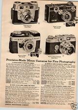 1955 PAPER AD Kodak Signet 35MM Mini Miniature Camera Argus Colormatic